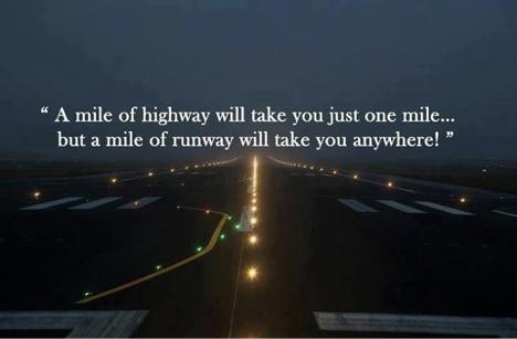 mile of runway